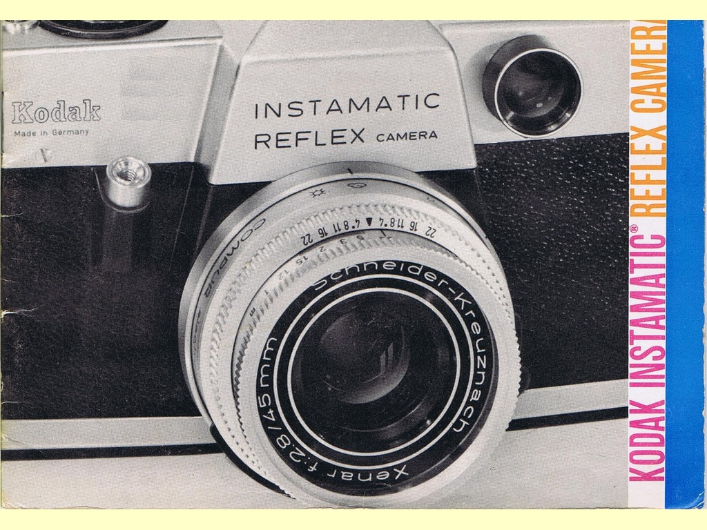 Kodak Instamatic Reflex Camera  -  Pt. No. 633512 - 10-69-AX